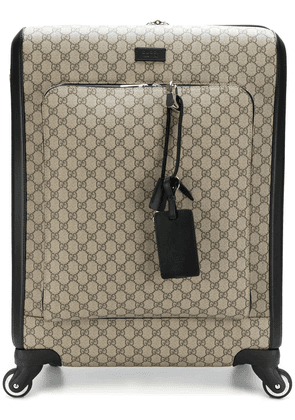 Gucci GG Supreme carry-on case - Brown