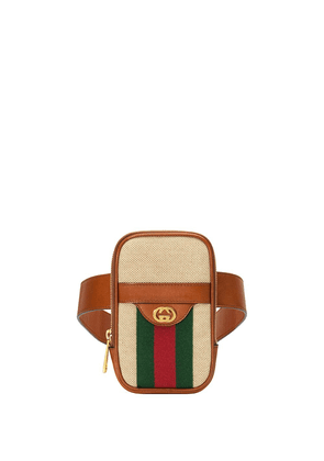 Gucci Vintage canvas belted iPhone case - Brown