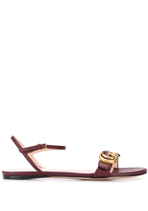 Gucci leather Double G sandals - Red