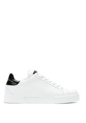 Dolce & Gabbana lace-up leather sneakers - White