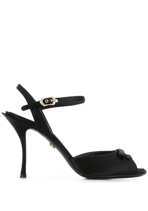 Dolce & Gabbana peep toe bow sandals - Black