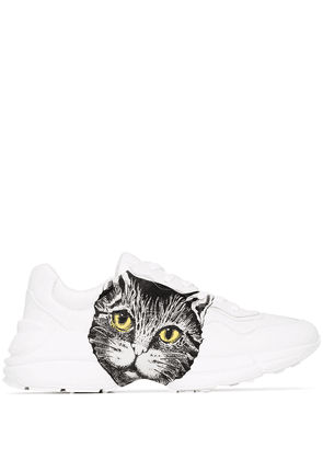Gucci Rhyton cat-print sneakers - White