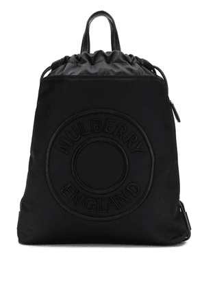 Mulberry Urban embroidered logo backpack - Black