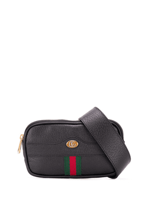 Gucci zipped Web detailed belt bag - Black