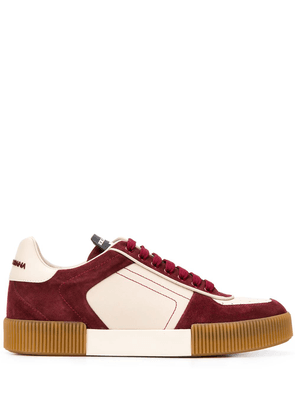 Dolce & Gabbana Miami panelled low-top sneakers - Red