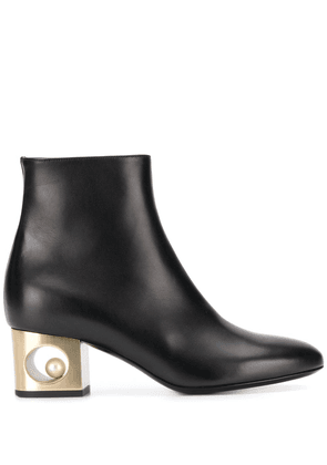 Coliac contrast-heel ankle boots - Black