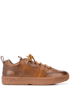 Buscemi panelled logo sneakers - Brown