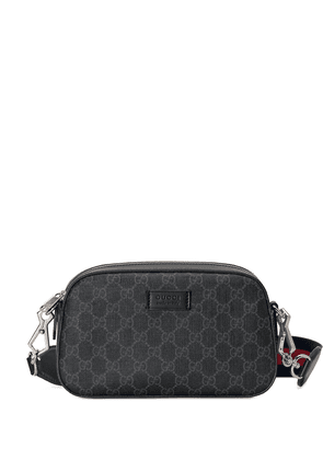 Gucci GG Supreme Canvas Shoulder Bag - Grey
