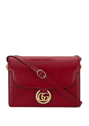 Gucci logo plaque shoulder bag - Red