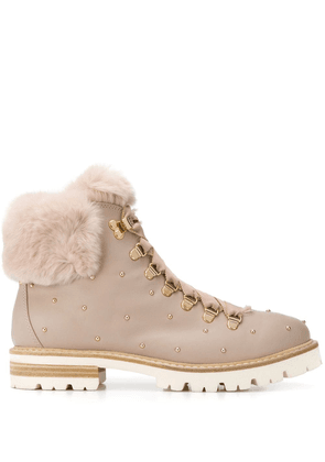 AGL ankle lace-up boots - PINK