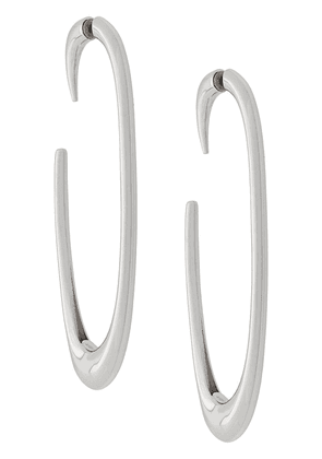 Saint Laurent semi hoop earrings - Silver