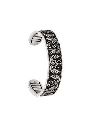 Gucci double G and leaf bracelet - SILVER