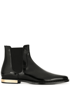 Dolce & Gabbana textured pointed toe boots - Black