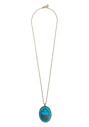 Gucci beetle pendant necklace - Blue