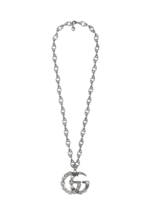 Gucci Crystal Double G necklace - Metallic