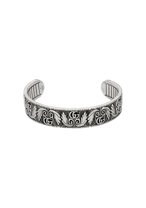 Gucci Bracelet with Double G and leaf motif - SILVER