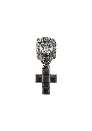 Gucci lion motif drop ring - Silver