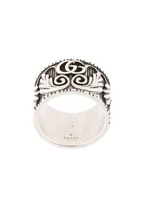 Gucci Double G leaf motif ring - Silver