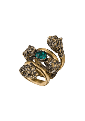 Gucci Double wrap ring with tiger heads - Gold