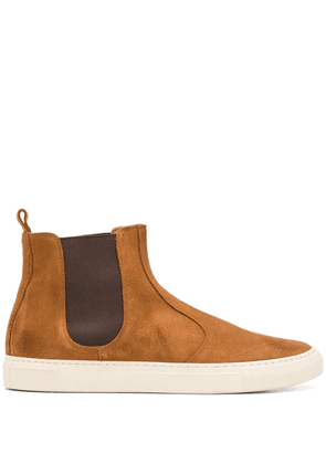 Buttero flat pull-on ankle boots - Brown