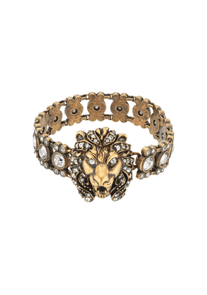 Gucci Lion head bracelet with crystals - 8062