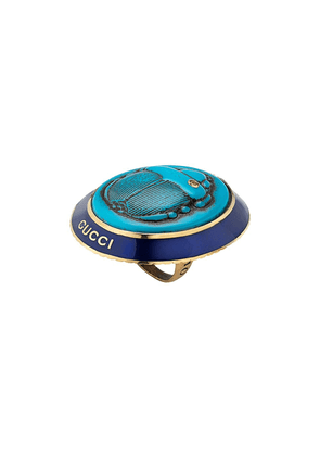Gucci Ring with beetle cameo - Blue