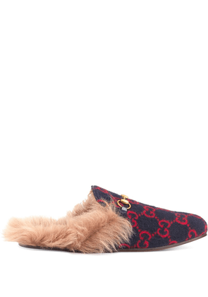 Gucci monogram Princetown slippers - Blue