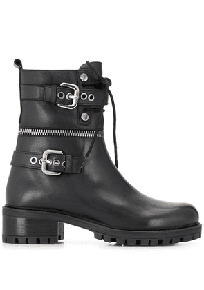 Albano buckle detail boots - Black