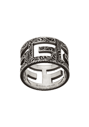 Gucci ring with square G motif - Silver