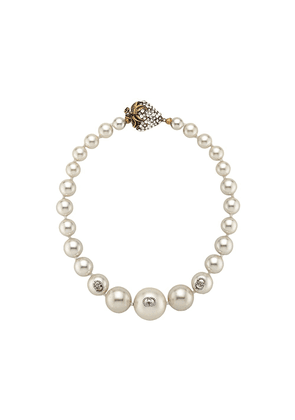 Gucci faux pearl necklace - White