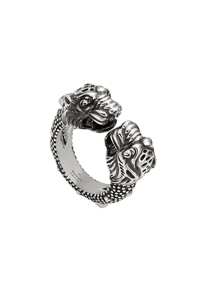 Gucci tiger head ring - SILVER