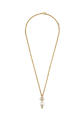 Gucci GG faux pearl necklace - GOLD