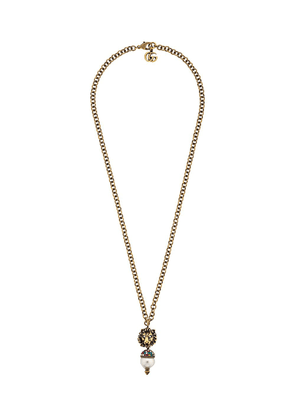 Gucci lion head necklace - Gold
