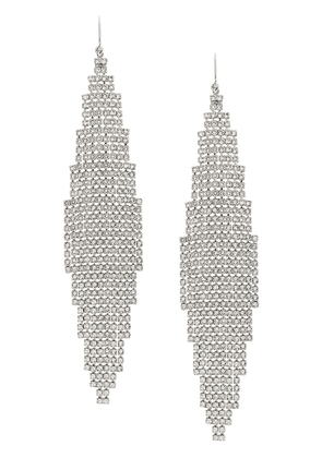 Saint Laurent Smoking mesh earrings - SILVER