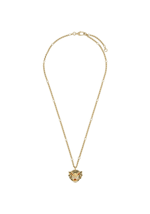 Gucci tiger head pendant necklace - Gold
