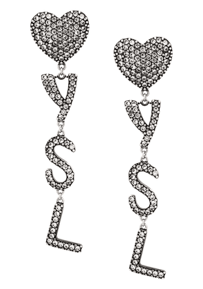 Saint Laurent logo earrings - SILVER