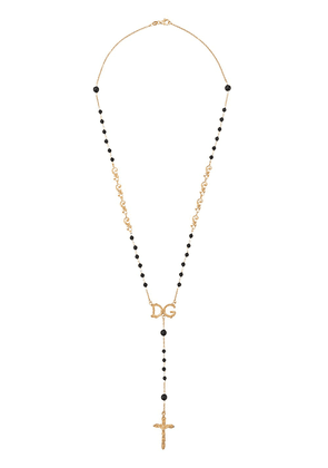 Dolce & Gabbana beaded rosary necklace - GOLD