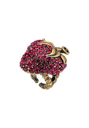 Gucci Strawberry ring with crystals - Pink