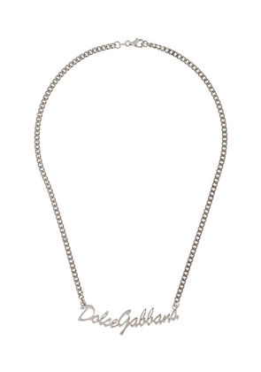 Dolce & Gabbana logo chain necklace - SILVER