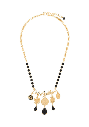 Dolce & Gabbana votive motif medallion necklace - GOLD