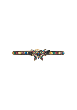 Gucci butterfly crystal choker - Black