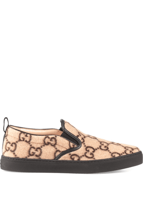 Gucci GG pattern slip-on sneakers - NEUTRALS