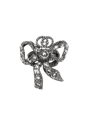 Gucci Metal bow ring with crystals - Metallic