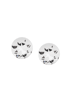 Saint Laurent smoking stud earrings - White