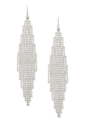 Saint Laurent cascade encrusted earrings - SILVER
