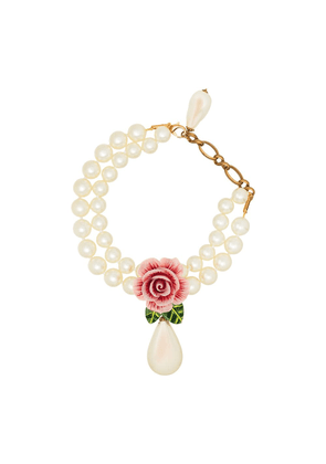 Dolce & Gabbana rose drop necklace