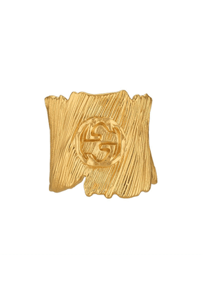 Gucci Textured metal ring with Interlocking G - GOLD