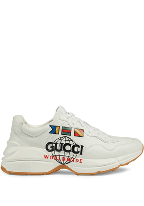 Gucci graphic print low-top sneakers - White