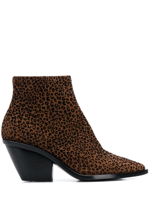 AGL leopard print ankle boots - Brown