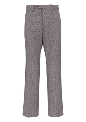 Gucci check straight wool blend trousers - 9105